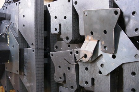 Conveyor Brackets Produced on CNC Punch Press