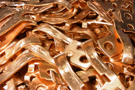 copper electrical contacts pressform