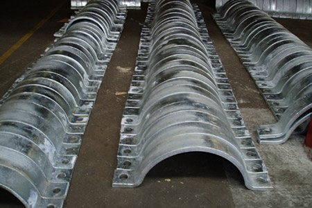 Galvanised Two Piece Pipe Clamps